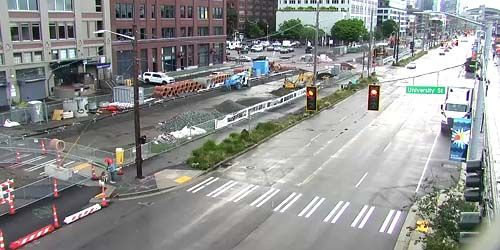 Alaskan way, view from Waterfront Park -  live webcam , Washington Seattle