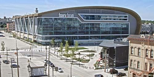 Fiserv Forum - multifunctional sports arena -  live webcam , Wisconsin Milwaukee