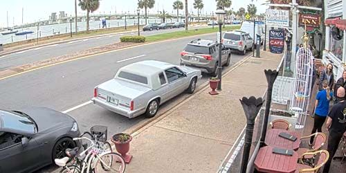 Cafe on the Coast and Bridge of Lions in St. Augustine -  live webcam , Florida Jacksonville