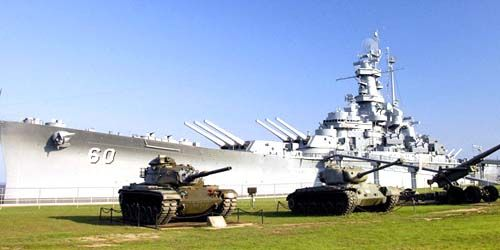 Battleship Alabama Memorial Park -  live webcam , Alabama Mobile
