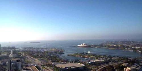 Panorama of the bay, Carnival cruise port -  live webcam , California Los Angeles