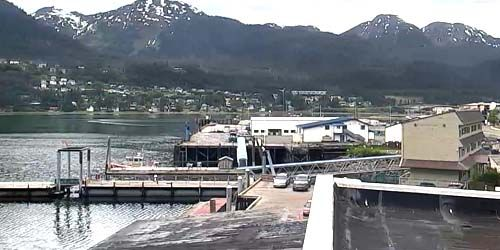 Bay panorama -  live webcam , Alaska Juneau