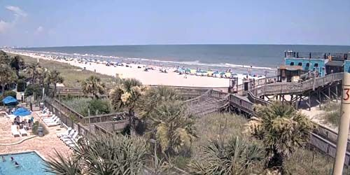 The beaches on the Atlantic coast -  live webcam , South Carolina Myrtle Beach
