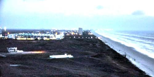 Coast with beaches Port Aransas -  live webcam , Texas Corpus Christi