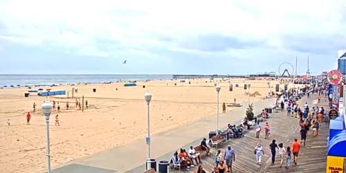 Promenade with beaches -  live webcam , Maryland Ocean City