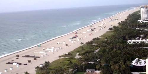 Sandy beaches on the coast of Miami Beach -  live webcam , Florida Miami