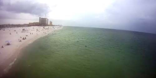 Sandy beaches on the Gulf of Mexico -  live webcam , Florida Pensacola