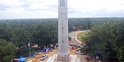 Campanario conmemorativo de la universidad -  Webcam , North Carolina Raleigh