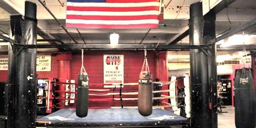 Gleason's Gym, boxing rings -  live webcam , New York New York