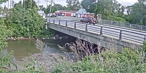 bridge over the river Socway Creek -  live webcam , New York Utica