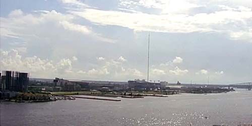 Vista del río St Johns desde el puente South Main Street -  Webcam , Florida Jacksonville