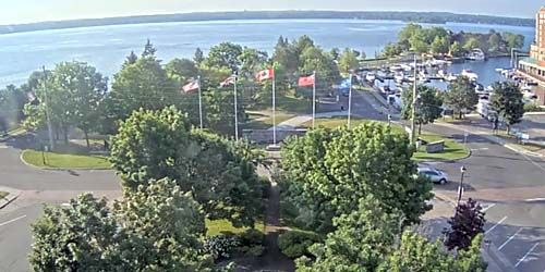St. Lawrence River in the town of Brockville -  live webcam , Ontario Ottawa