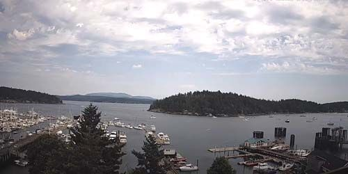 Friday Harbor Ferry, île Brown -  Webсam , Washington Seattle