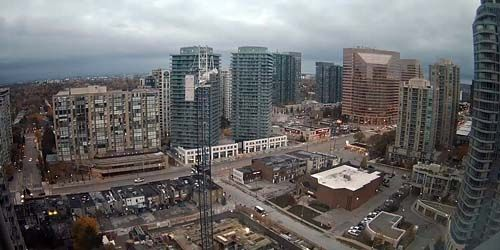 Construction of a building in the city center -  live webcam , Ontario Toronto