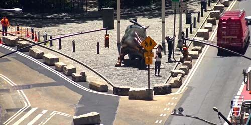 Charging Bull on Wall Street -  live webcam , New York New York