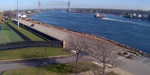 Puente del ferrocarril del canal de Cape Cod -  Webcam , Massachusetts New Bedford