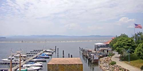 Pier on Lake Champlain -  live webcam , Vermont Burlington