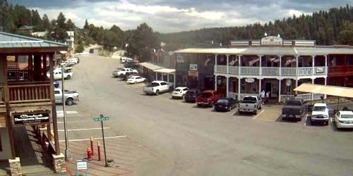 Burro Street Bakery, city clock -  live webcam , New Mexico Cloudcroft