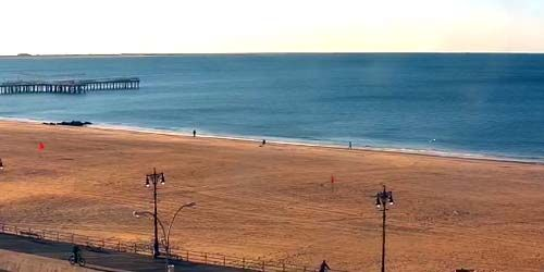 Beaches on the coast of Coney Island -  live webcam , New York New York
