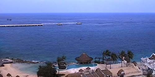 Panorama from the island of Cozumel -  live webcam , Quintana Roo Playa del Carmen