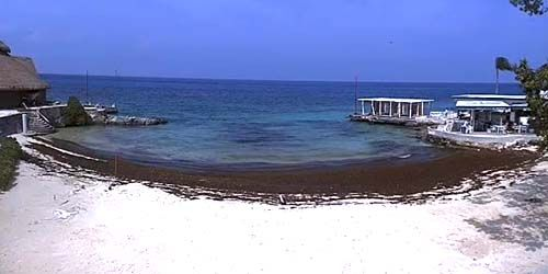 Beach at a hotel on the island of Cozumel -  live webcam , Quintana Roo Playa del Carmen