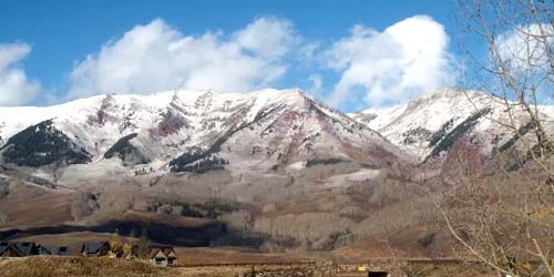 Panorama of mountains in Crested Butte -  live webcam , Colorado Glenwood Springs