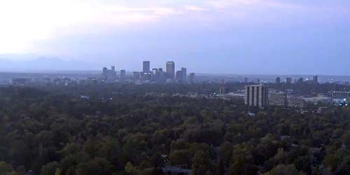 Downtown, panorama from above -  live webcam , Colorado Denver