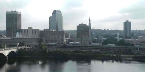 Downtown, view of business centers -  live webcam , Illinois Springfield