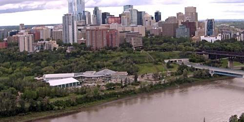 Downtown, North Saskatchewan River view -  live webcam , Alberta Edmonton