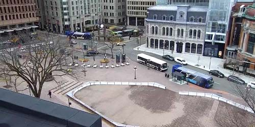 D'Youville Square -  live webcam , Province of Quebec Quebec