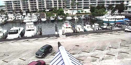 Embankment with a pier for yachts -  live webcam , Alabama Mobile