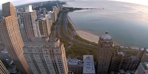 Michigan Lake Embankment -  live webcam , Illinois Chicago