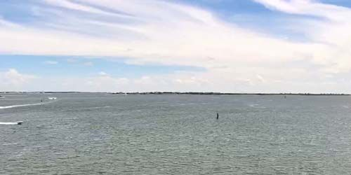 Estuario del cabo miedo en Southport -  Webcam , North Carolina Wilmington