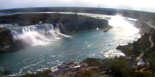 Horseshoe Falls and American Falls -  live webcam , Ontario Niagara-Falls
