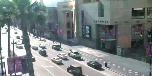 Hollywood Walk of Fame -  live webcam , California Los Angeles