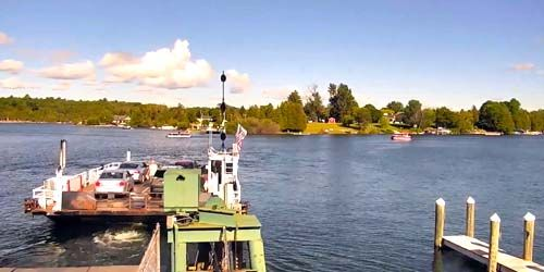 Ironton Ferry, Ferry Road -  live webcam , Michigan Charlevoix