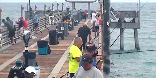 fishermen at Dania Beach Pier -  live webcam , Florida Miami
