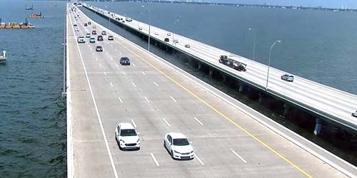Howard Frankland Bridge -  live webcam , Florida Tampa