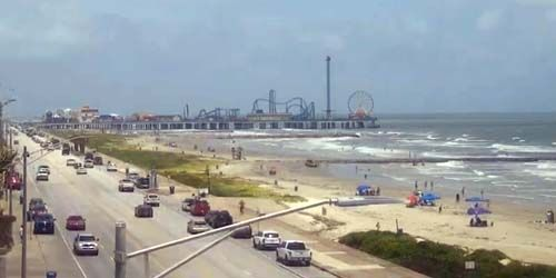 Jetée de plaisance historique de Galveston Island -  Webсam , Texas Houston
