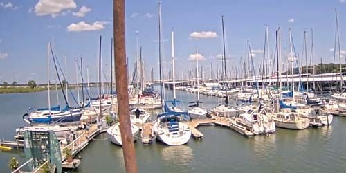 Atraque con yates en el lago Grapevine -  Webcam , Texas Dallas