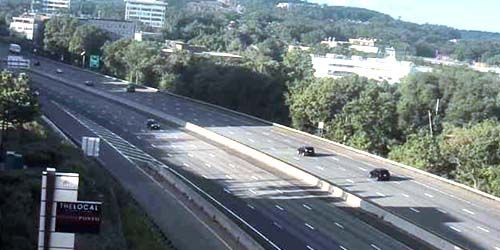 Highway at the entrance to the city -  live webcam , Massachusetts Boston