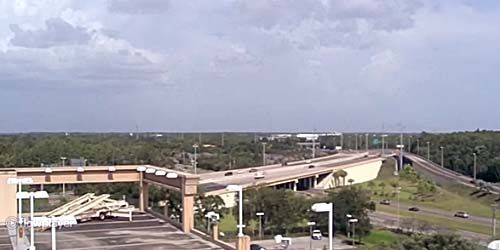 Highway at the entrance to the city -  live webcam , Florida Tampa