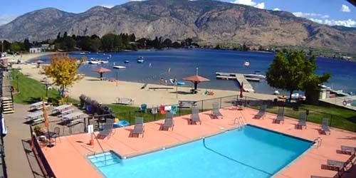 Osoyoos Lake Hotel Beach Pool -  live webcam , British Columbia Osoyoos