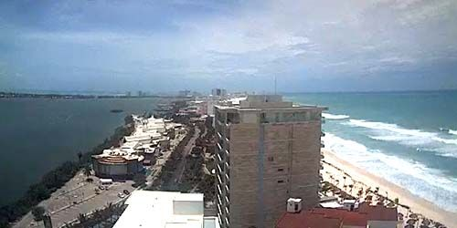 Zona Hotelera - panoramic view -  live webcam , Quintana Roo Cancun