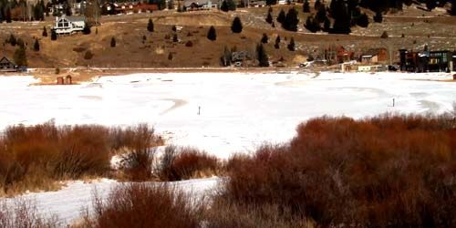 Golf Course, Mountainside Hotels at Big Sky Resort -  live webcam , Montana Bozeman