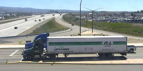 I-84 highway, exit from the bridge -  live webcam , Idaho Boise