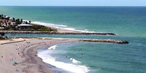 Costa con playas en Jupiter Inlet Colony -  Webcam , Florida West Palm Beach