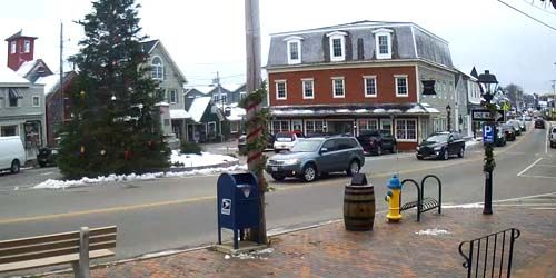Plaza central en el suburbio de Kennebunkport -  Webcam , Maine Portland