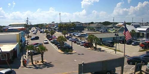 Aparcamiento frente a la playa en Kure Beach -  Webcam , North Carolina Wilmington