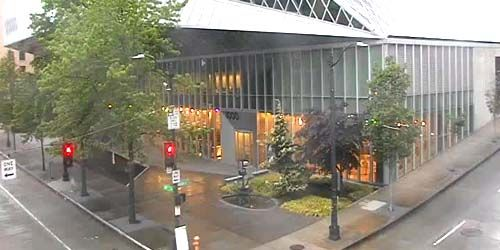 Bibliothèque publique de Seattle - Bibliothèque centrale -  Webсam , Washington Seattle
